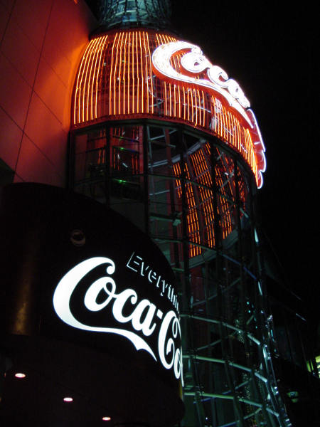 Coca-cola sign in Las Vegas