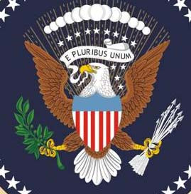 Eagle on the President's seal.