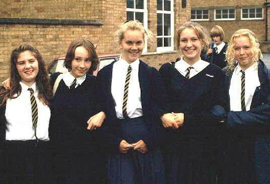 Fourth formers in uniform at an English school