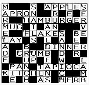 Linguapress Themed Vocabulary Crosswords Solution To Food And Drink Crossword Puzzle
